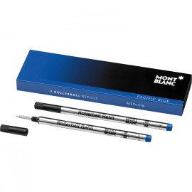 Montblanc 2 Refill per Roller M Pacific Blue - blu 105159