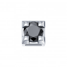 Elements Griffe Oro bianco con Diamante nero DCHF3303.002