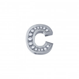 Elements Lettera C Oro bianco Diamanti DCHF3319C.002