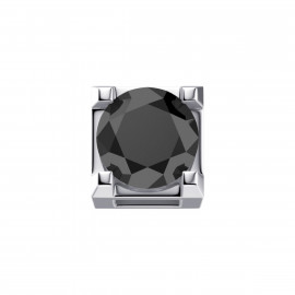 Elements Griffe Oro bianco con Diamante nero DCHF3303.005