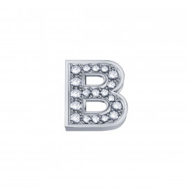 Elements Lettera B Oro bianco Diamanti DCHF3319B.002