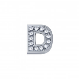 Elements Lettera D Oro bianco Diamanti DCHF3319D.002